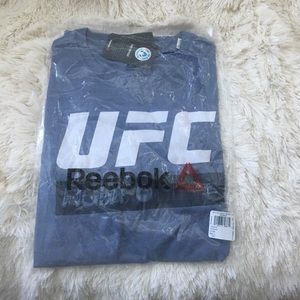 Light grey/blue UFC t shirt large. New!